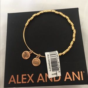 Alex and Ani Gold Rocker Bracelet NWT